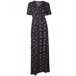 Nancy Dee Gloria Black Luna Printed Maxi Dress