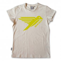 Silverstick Original Logo Organic Cotton Womens T-shirt - Stone