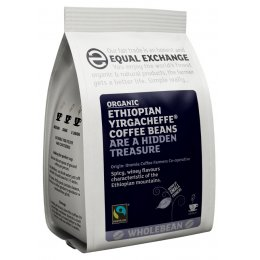 Equal Exchange Organic Ethiopian Yirgacheffe Whole Coffee Beans - 227g