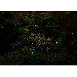 Solar Powered Coloured LED String Lights - 50