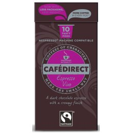 Cafedirect Espresso Vivo Coffee Pods - Pack of 10