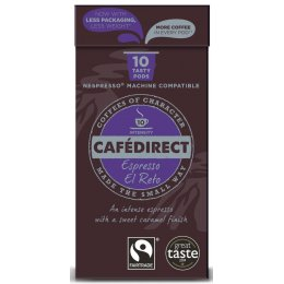 Cafedirect Espresso El Reto Coffee Pods - Pack of 10