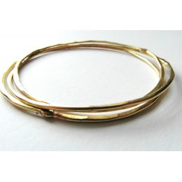 LA Jewellery Recycled Beaten Brass Bangles