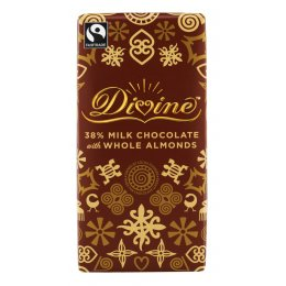 Divine Milk Chocolate with Almonds - 100g