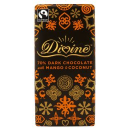 Divine Dark Chocolate with Mango & Coconut - 100g