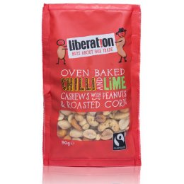 Liberation Fairtrade Chilli & Lime Cashew Nuts with Peanuts and Roasted Corn - 90g