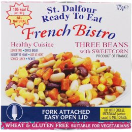 St Dalfour French Bistro Three Beans & Sweetcorn - 175g