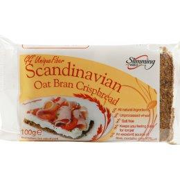 Scandanavian Crispbreads Oat Bran Crispbread - 100g