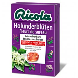 Ricola Swiss Herbal Drops Box - Sugar Free - Elderflower - 45g
