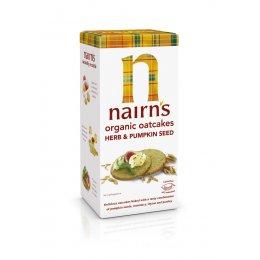 Nairns Herb & Pumpkin Seed Oatcakes - Organic - 200g