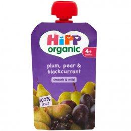 HiPP Organic Plum, Pear & Blackcurrant - 4m+ - Pouch - 100g