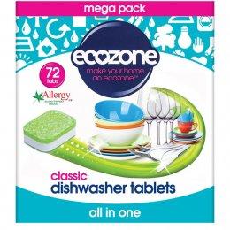 Ecozone Dishwasher Tablets Classic - Pack of 72 test