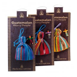 Mini Worry Dolls in a Bag - Pack of 6