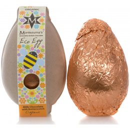 Montezumas Eco Organic Easter Egg - Milk Chocolate with Butterscotch - 150g