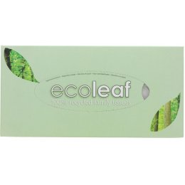 Ecoleaf Recycled Facial Tissues - 100 Sheets
