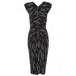 Nancy Dee Jessica Black Brush Strokes Dress