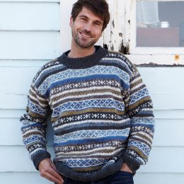 Mens Orkney Sweater - Blue