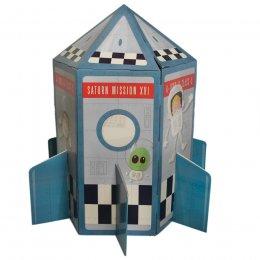 Cardboard Space Rocket Playhouse test