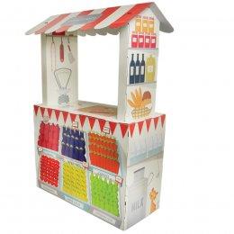 Cardboard Farm Store Playhouse test