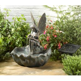 Solar Powered Fairy Leaf Water Fountain