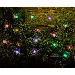Solar Powered Fibre-optic Flower Light String