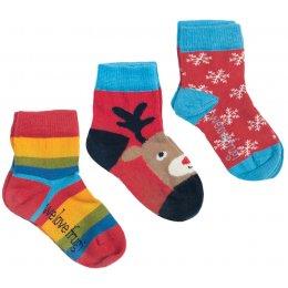 Little 3 Pack Socks Reindeer Multipack