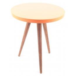 Sheesham Wood Side Table - Peach