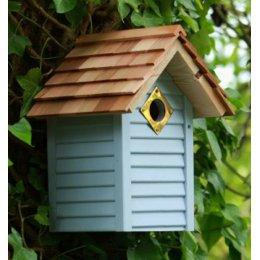 New England Bird Nest Box - Blue