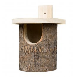 Natural Log Robin Bird Box