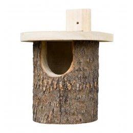 Natural Log Robin Bird Box