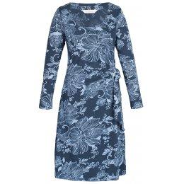Lotus Organic Tie Side Wrap Dress-Slate
