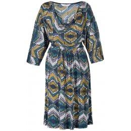Orissa Cowl Neck Dress-Teal test