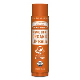 Dr Bronner Organic Lip Balm - Orange Ginger - 4g