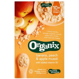 Organix Banana, Peach & Apple Muesli - 200g