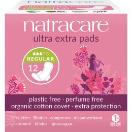 Natracare Organic and Natural Ultra Extra Pads - Normal with Wings - Pack Of 12