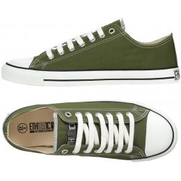 Ethletic Fairtrade Trainers - Camping Green