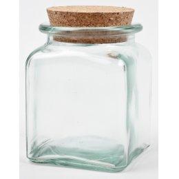 Recycled Glass Storage Jar - 1.5L
