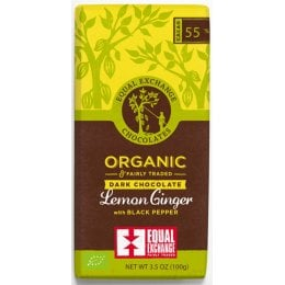 Equal Exchange Organic Lemon Ginger With Black Pepper Chocolate - 100g