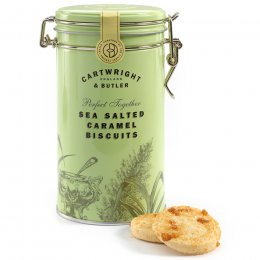 Cartwright & Butler Salted Caramel Biscuits in Tin - 200g