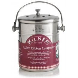 Kilner Stainless Steel Kitchen Compost Bucket - 2 Litre