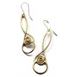 La Jewellery Recycled Brass Laugharne Earrings