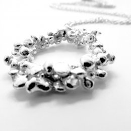La Jewellery Fair Trade Rockpool Silver Necklace