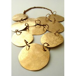 La Jewellery Recycled Zarrin Brass Neck Art