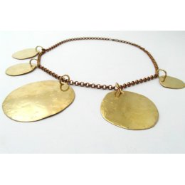 La Jewellery Recycled Osho Brass Neck Art