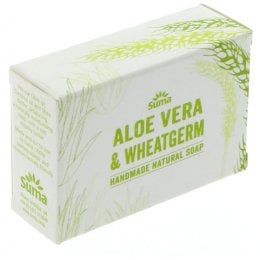 Suma Handmade Natural Soap - Aloe Vera & Wheatgerm Oil - 95g