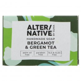 Alternative by Suma Handmade Soap - Bergamot & Green Tea - 95g