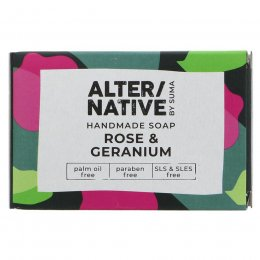 Alternative by Suma Handmade Soap - Rose & Geranium - 95g