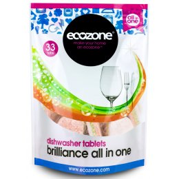 Ecozone Brilliance All in One Dishwasher Tablets - 33 test