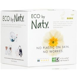 Eco by Naty Womencare Sanitary Towel - Super - Pack of 13