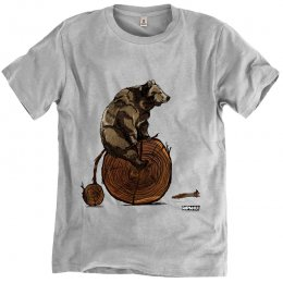 Rapanui Organic Cotton Men's Bear Penny Farthing  T-shirt